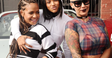 Christina Milian, Karrueche Tran and Amber Rose Coachella