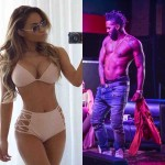 Daphne Joy flaunts her assets on the beach while Jason Derulo acts weird on stage