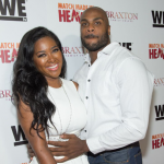 "Kenya Moore might be pregnant as she appeared at the ""Match Made In Heaven"" movie premiere"