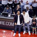 Drake sad at the Raptors conference