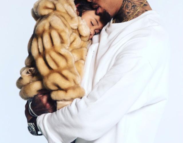 Chris Brown getting a tatoo