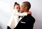 Blue Ivy and Jay Z at the CFDA Awards 2016