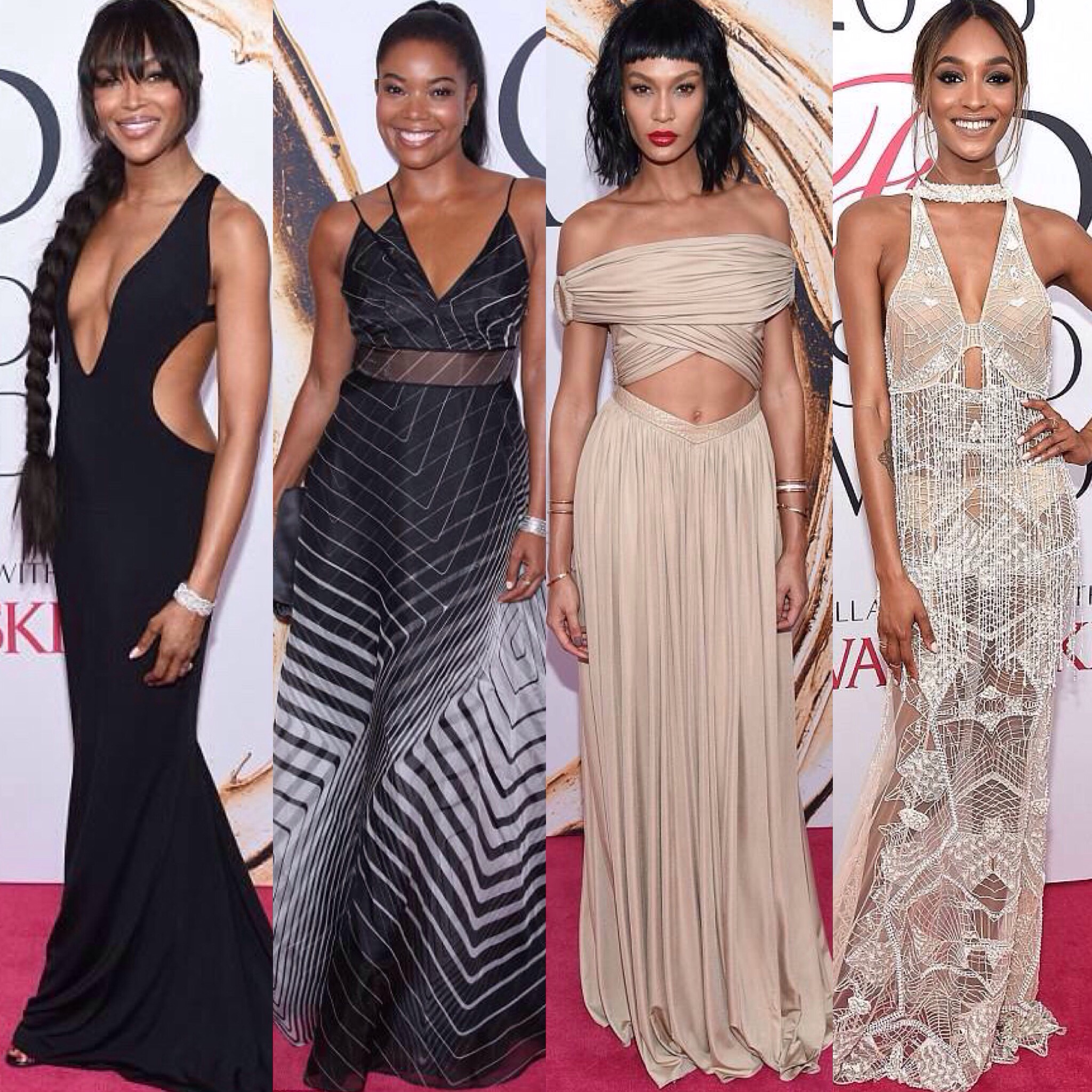 Naomi Campbell, Gabrielle Union, Joan Small,  Jourdan Dunn at the CFDA Awards 2016