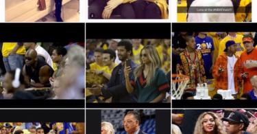 Ciara and Russell Wilson at the NBA finals 2016