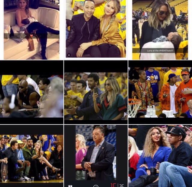 Celebrities at the NBA Finals 2016