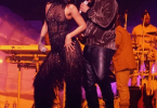 Drake and Rihanna at Rihanna's tour