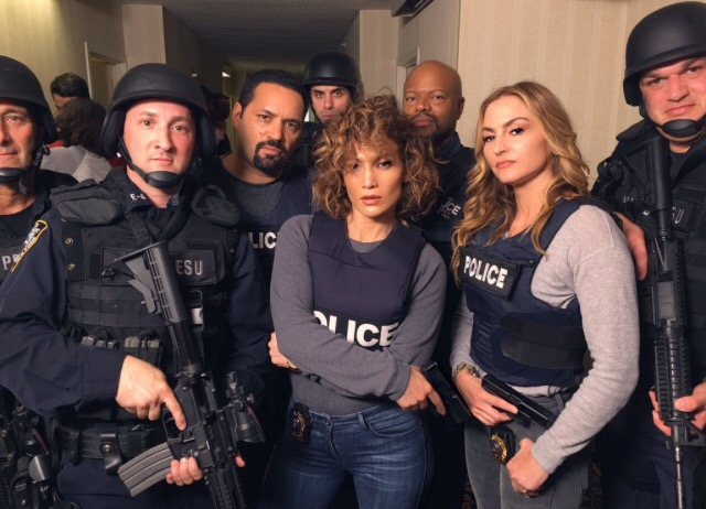 Jennifer Lopez is back on the set of Shades of blue