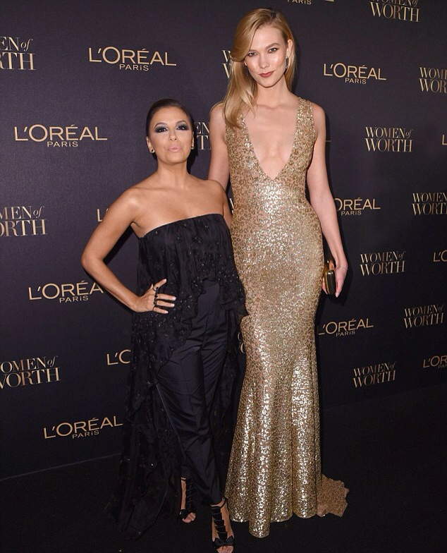 Eva Longoria and Karlie Kloss