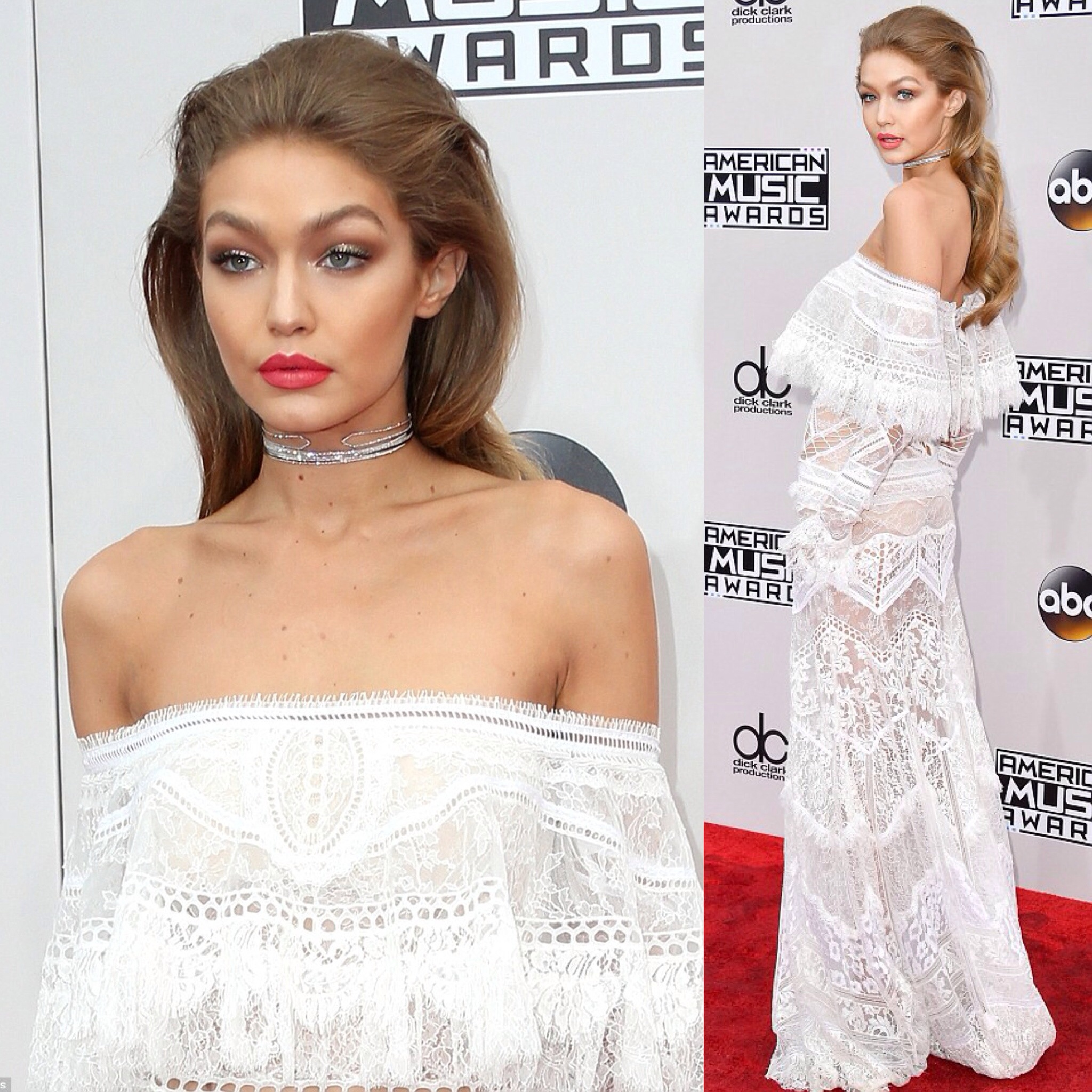 Gigi Hadid was the host if the American Music Awards 2016.