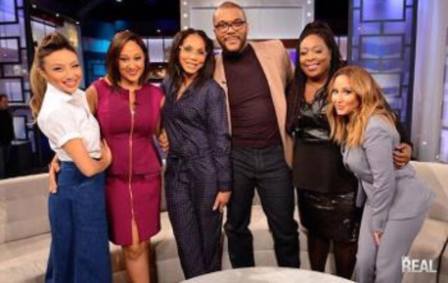 Tyler Perry and The Real co-hosts