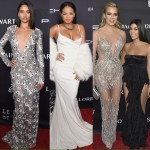Christina Milian, Khloe Kardashian, Kourtney Kardashian at the Angel Ball in NYC