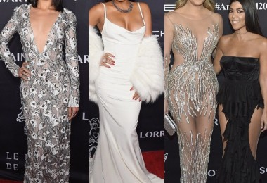 Shanina Shaik, Christina Milian, Khloe Kardashian, Kourtney Kardashian at the Angel Ball