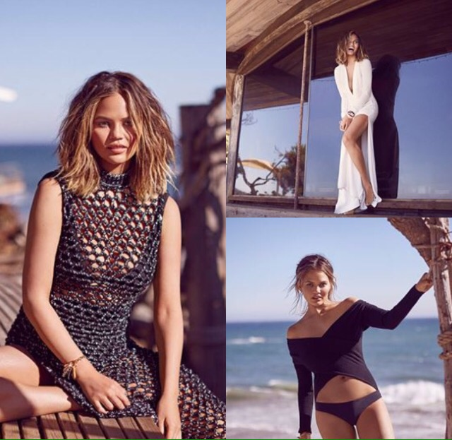 Chrissy Teigen for Elle Magazine
