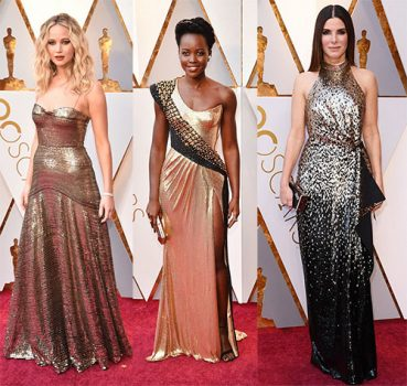 Jennifer Lawrence, Lupita Nyong'o and Sandra Bullock at Oscars 2018