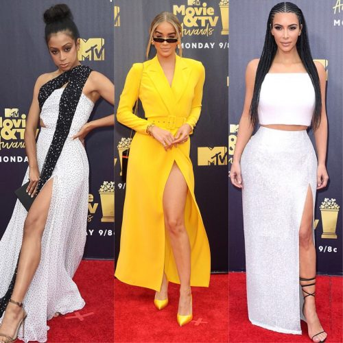 jasmine sanders and kim kardashian at MTV Movie Awards 2018