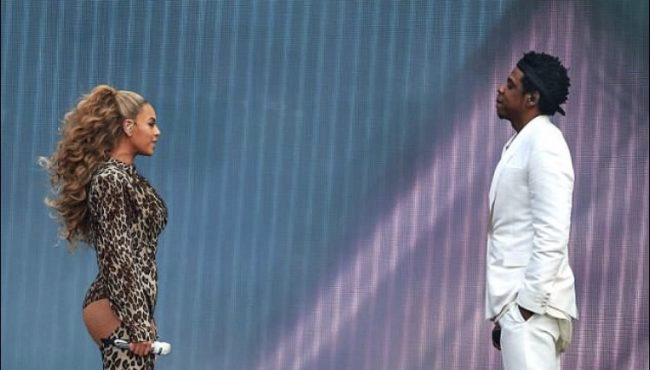 Jay-Z and Beyoncé at London Stadium