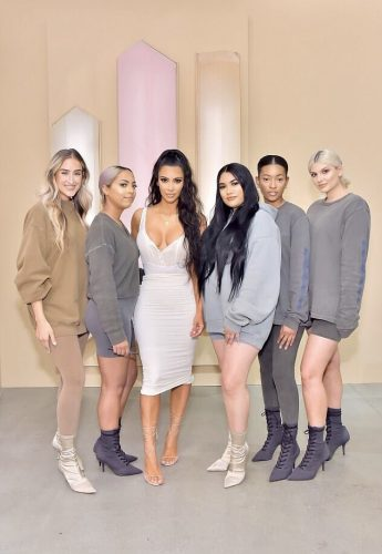 Kim Kardashian and her staff members