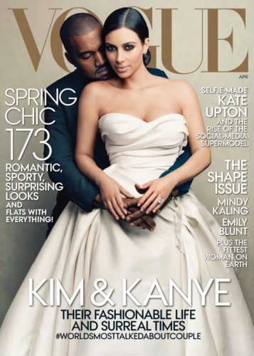 Kim Kardashian and Kanye West Vogue Magazine