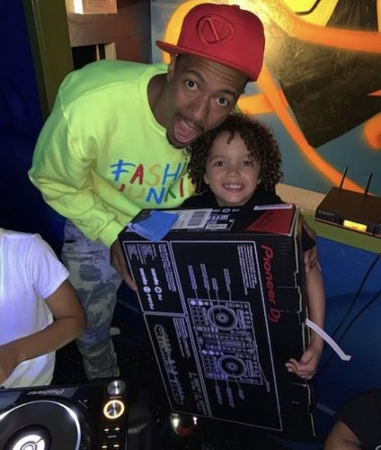 Nick Cannon and Roc his son