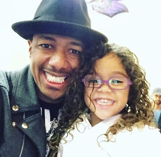 Nick Cannon and his daughter Roe