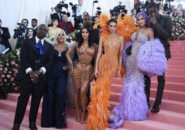 Kim Kardashian, Kylie Jenner, Kendall Jenner and Kris Jenner at MET Gala 2019