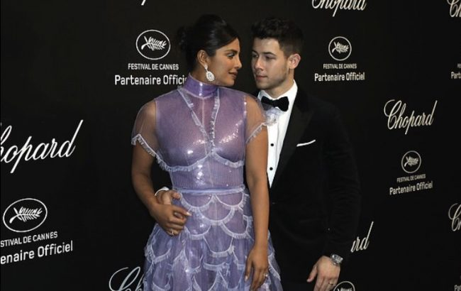Priyanka Chopra and Nick Jonas at Chopard Party Cannes 2019