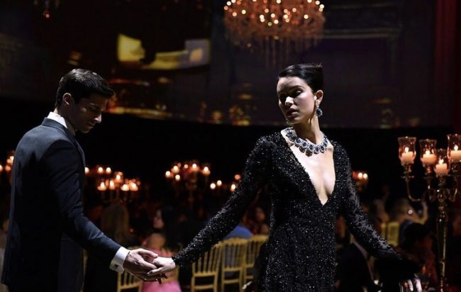Model presenting Chopard jewels at Chopard Party Cannes 2019