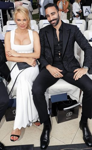 Pamela Anderson and boyfriend Adil Rami at Cannes 2019