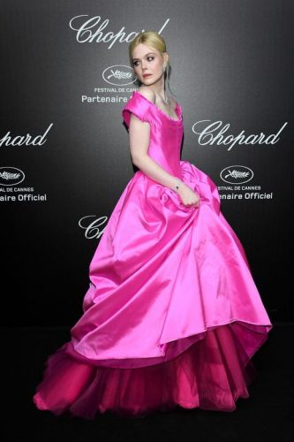 Elle Fanning at Chopard Party Cannes 2019
