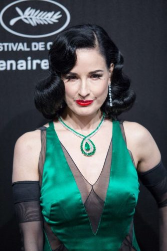 Dita Von Teese at Chopard Party Cannes 2019