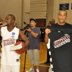 Kevin Hart, Larenz Tate, LeToya Luckett  et Floyd ont assité à un match de basketball organisé pour le Ludaday