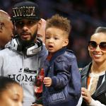 Alicia Keys, Swizz Beatz et Egypt assistent au Slam Dunk Contest