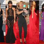 Beyonce, Rihanna, Kelly Rowland, Alicia Keys sur le tapis rouge des Grammy Awards