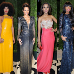 Halle Berry, Solange Knowles, Zoe Saldana, Jennifer Hudson à l'after Oscar Vanity Fair