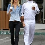 Eddie Murphy prend un café avec sa petite amie