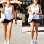 Nicole Murphy va à son cours de fitness à Los Angeles