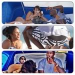 Chad Johnson s'éclate sur la plage avec plusieurs femmes