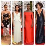 Kerry Washington, Lupita Nyong'o, Angela Bassett, Zoe Saldana aux Golden Globes Awards