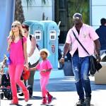 Heidi Klum,  Seal Samuel et leurs enfants s'amusent à Disneyland Anaheim