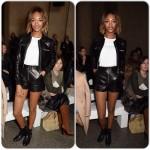 Jourdan tout en cuir à la London Fashion Week
