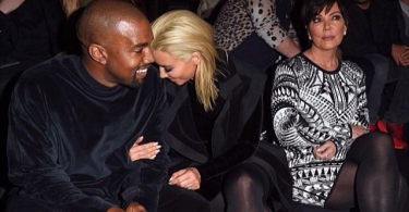 Kim Kardashian et son mari Kanye West à la Paris Fashion Week