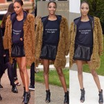 Jourdan Dunn réalise un photoshoot pour Burberry – London Fashion Week