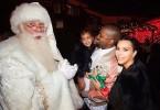 Kim Kardashian, North West et Kanye West