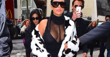 Kim Kardashian in Cruella Looking at the NYFW