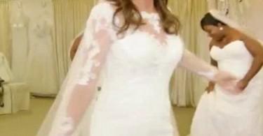 Caitlyn Jenner in a wedding dress