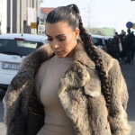Kim Kardashian parades in nude outfit with Yeezy boots