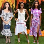 Winnie Harlow, Penelope Cruz and Laura Harrier at Veuve Cliquot Polo Classic